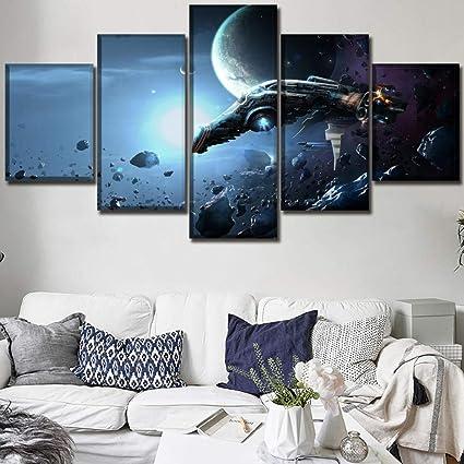 Amazon.com: sansiwu Wall Art Modular Picture Canvas Print ...