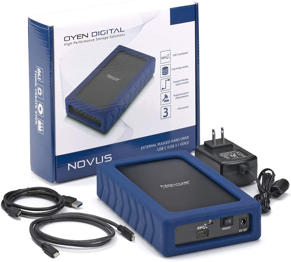 3.1,Gen2 Rugged Desktop Hard Drive Novus 14TB External USB-C