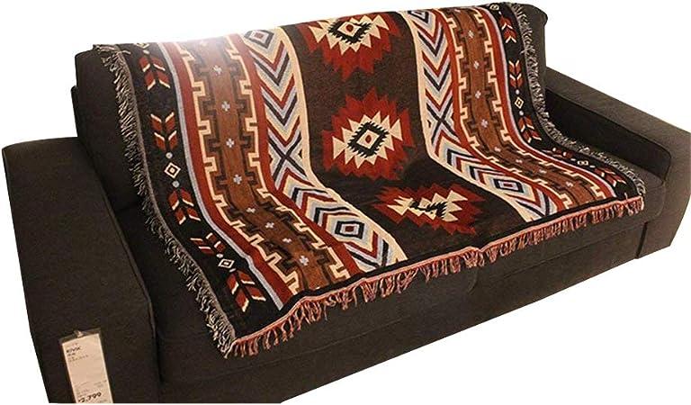 Qhrdp Literie Couverture G/éom/étrique Tapisserie Tenture Tenture Sud-Ouest Am/érindien D/écoratif Mur Art Aztec Couvre-Lit Feuilles/ 130X150Cm
