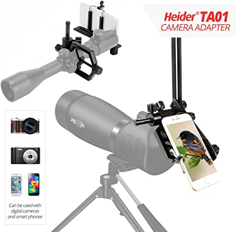 Heider TA01 Universal Metal – Telescopio, teléfono móvil, réflex y ...