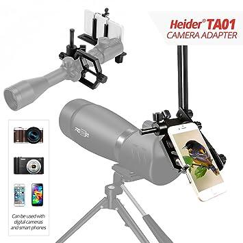 Heider TA01 Universal Metal - Telescopio, teléfono móvil, réflex y ...