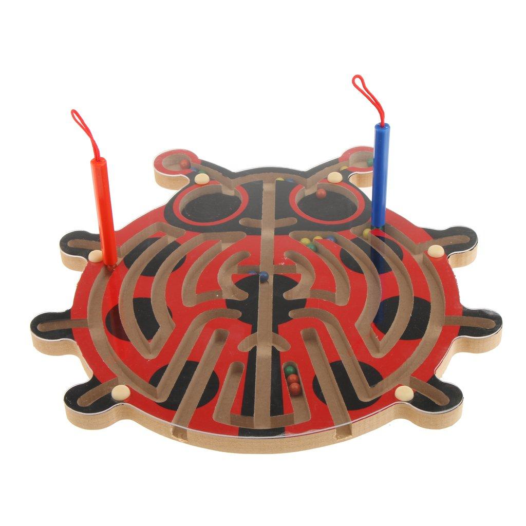 MagiDeal Kinder Holzspielzueg - Holz Labyrinth Puzzle - Balance Board Perle Labyrinth Brettspiel - Kinder Pädagogisches Spielzeug - Apfelbaum