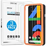 [3 Pack]OMOTON Screen Protector for Google Pixel 4a, Easy-Install/Bubble Free/Tempered Glass Screen Protector for Pixel 4a