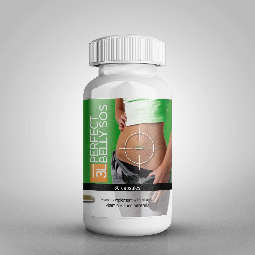 Perfect Belly SOS - AS SEEN ON TV, Natura and Pure Weight Loss Supplement & Fat Burner, Appetite Suppressant & Energy Booster. 60 Count. (1) by Perfect Belly SOS
