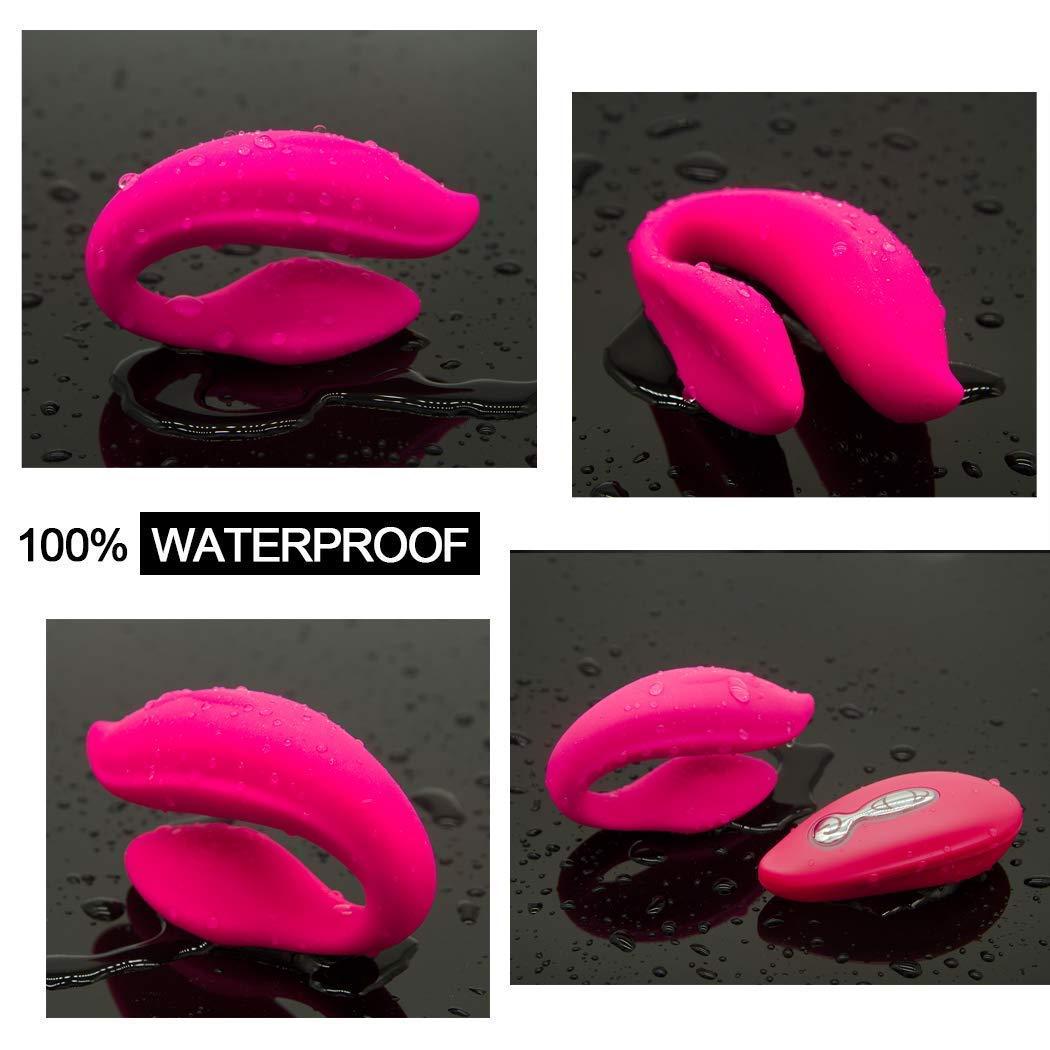 SUN-Love Usenyy Dual Vibrating Wearable U Type G Spòt Vibrator for Couples Wireless Remote Clitòral Stimulator USB Charging Sèx Vibrators Tshirt,Pink Massager Vibrator Companion s