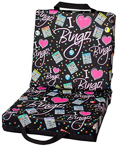ABS Novelties I Love Bingo Black Pattern Double Cushion Black -