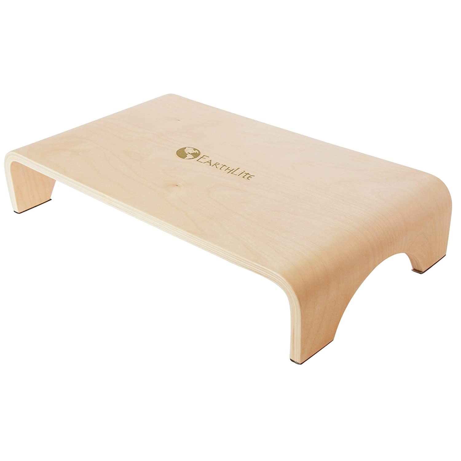 EARTHLITE Wooden Step Stool - 4'' High, Large Surface, Strong & Stable Bed Step, Foot Stool, Massage Step-Up Earthlite Massage Tables Inc. 40800