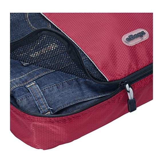 """eBags Large Classic Packing Cubes for Travel - 3pc Set 5 INCLUDES 3 Large PACKING CUBES: Dimensions are 17.5"""" x 12.75"""" x 3.25""""; great for packing sweaters, jeans, dress pants, etc. SUPERIOR QUALITY: Highest construction standards utilized, making it a customer-favorite, packing cube of choice. Includes premium self-healing zippers with corded pulls for a lifetime of opening and closing. DURABLE & CONVENIENT: Interior seams fully finished for durability and soft mesh tops won't damage delicate fabrics or dress clothes. Mesh allows for easy identification - no more digging around!"""