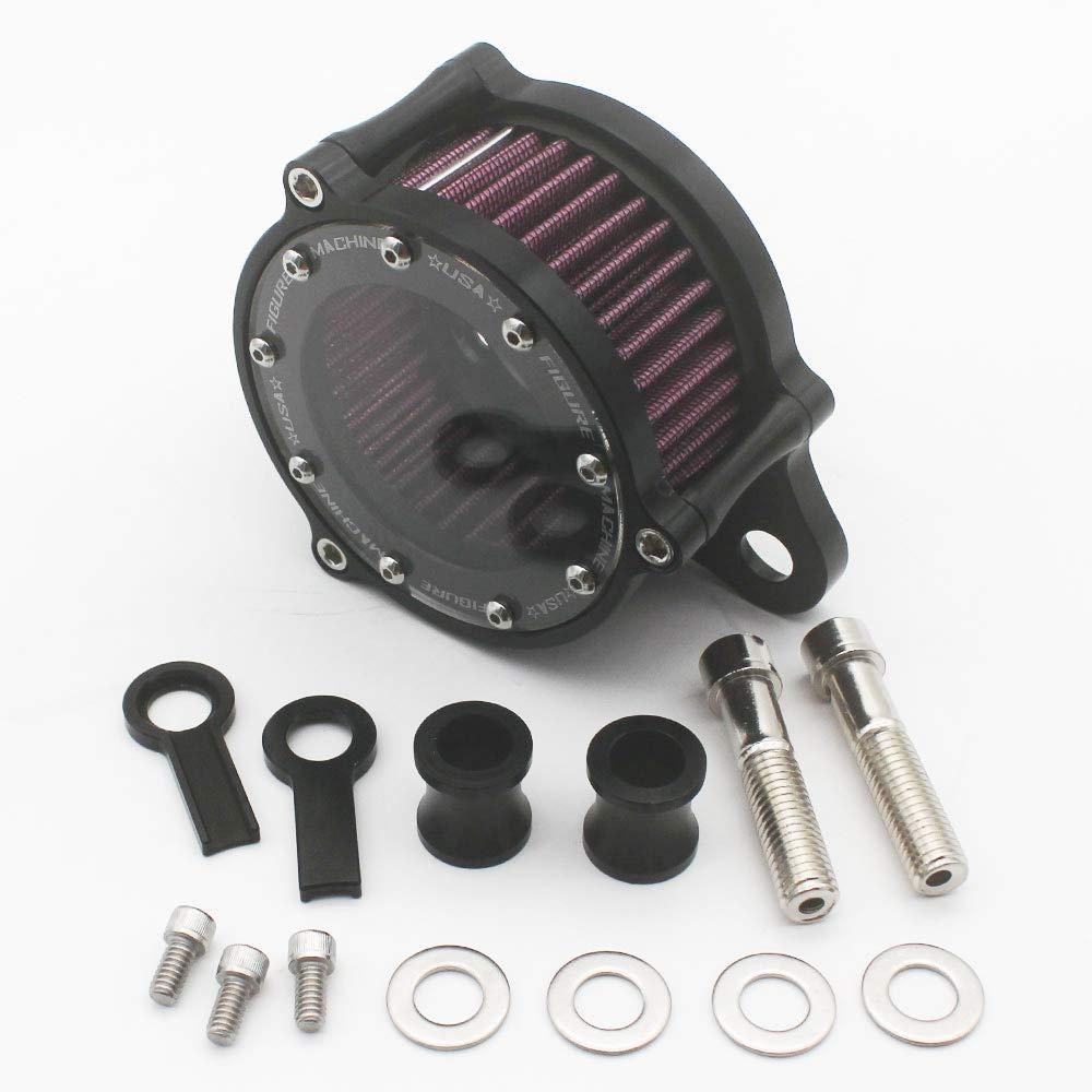 KIPA Air Cleaner Intake Filter System Kit For Harley Davidson Sportster XL883 XL883N XL883R XL883P XL1200 XL1200L XL1200X Iron 883 Forty Eight XL1200X 2004-2016 Billet Aluminum CNC Machined Washable by KIPA (Image #5)