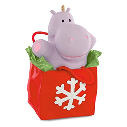 "Hallmark Keepsake ""I Want A Hippopotamus For Christmas"" Holiday  Ornament - Amazon.com: Hallmark Keepsake"