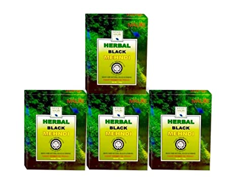 78fc5a6f45957 Buy Khadi Mauri Herbal Black Henna, 75g (Pack of 4) Online at Low ...