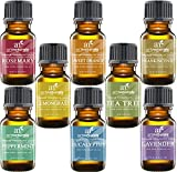 #6: ArtNaturals Aromatherapy Top 8 Essential Oils, 100% Pure of The Highest Quality, Peppermint/Tee Tree/Rosemary/Orange/Lemongrass/Lavender/Eucalyptus/Frankincense, Therapeutic Grade