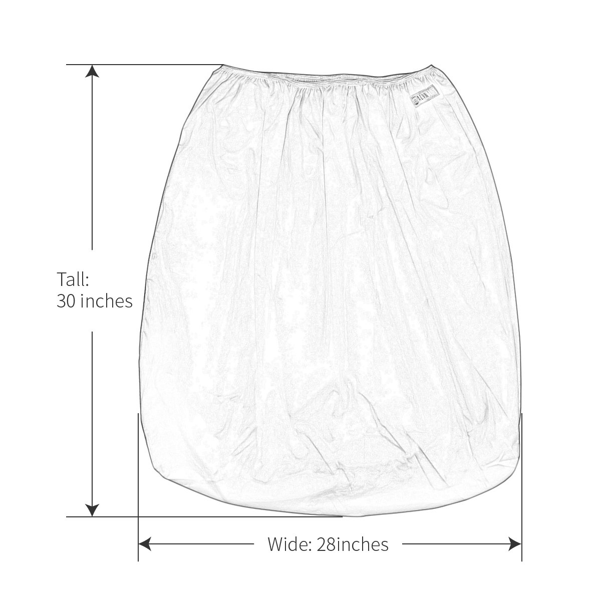 PL-B26 ALVABABY Reusable Diaper Pail Liner for Cloth Diaper,Laundry,Kitchen Garbage Cans Black