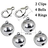 IVIA 4 Sets Cat Bell for Dog Collar Charm