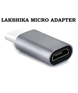 Lakshika USB Type -C to Micro USB Adapter Convertor for One Plus 3 (Multicolour)