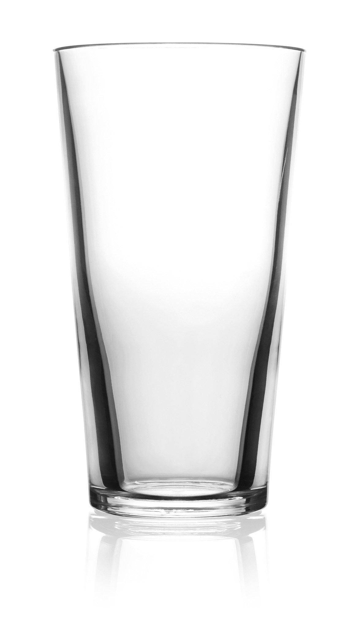symGLASS 16-Ounce Unbreakable Pint Glass, Set of 4