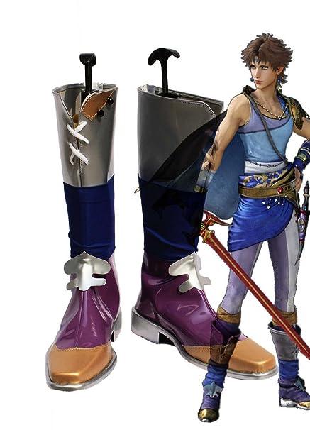 Final Fantasy 5 FF5 Bartz Klauser Cosplay Shoes Boots Custom Made