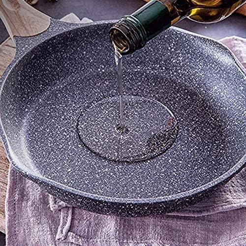 Wok médicale Pierre Épaississement antiadhésif Frying Pan Pancake No Fumées Batterie de cuisine Utilisation for gaz Cuisinière à induction Xping