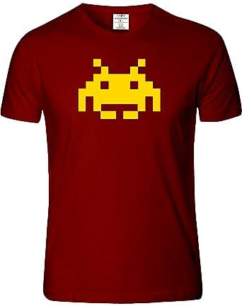Eat Sleep Shop Repeat Space Invader Mens T Shirt Xxl Burgandy