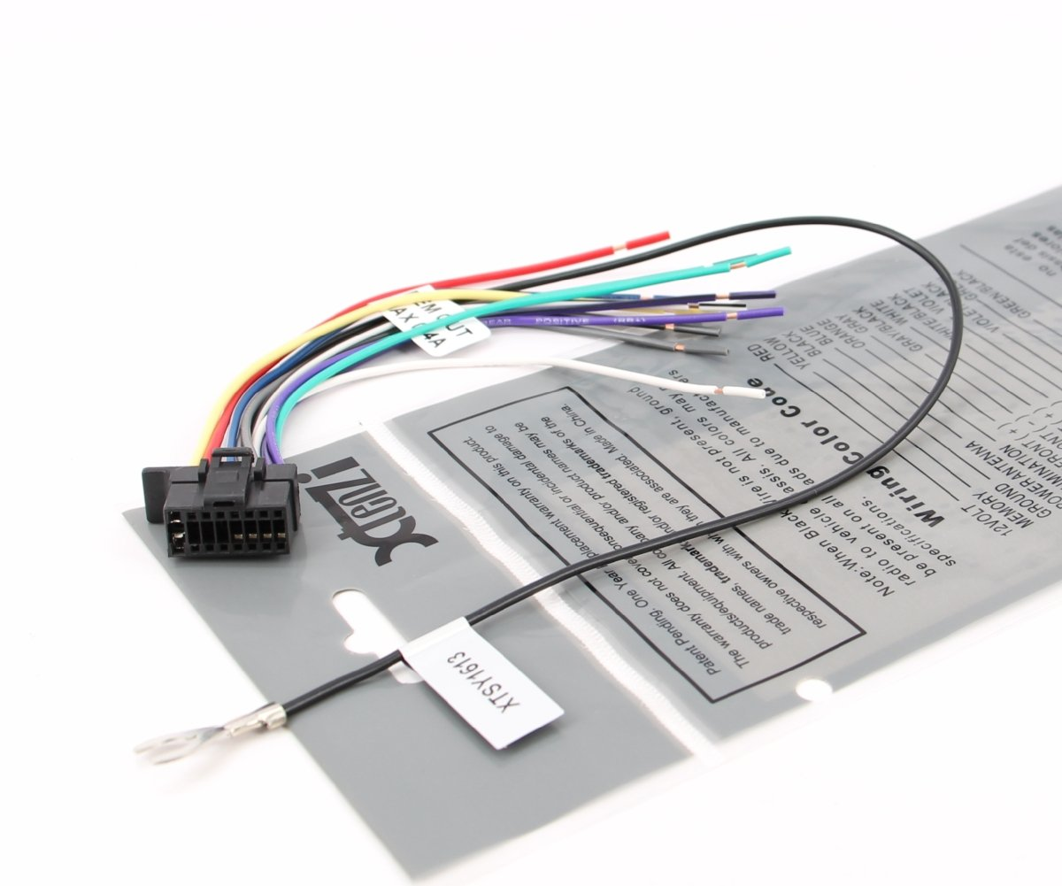 61oyOxZltOL._SL1200_ amazon com xtenzi sony radio wire harness wx gt80ui cdx gt575up sony mex bt3100p wiring harness at mifinder.co