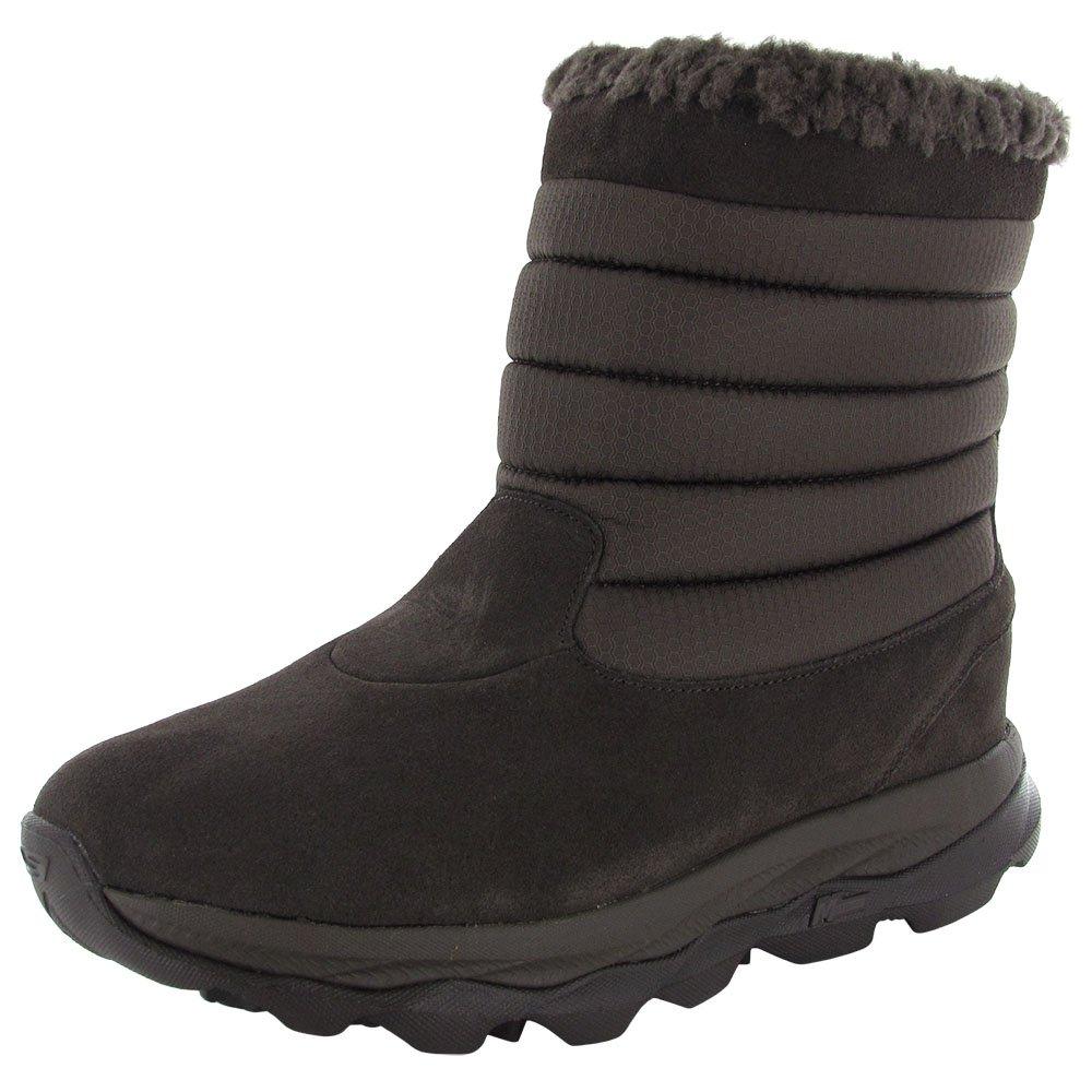 Skechers Women GOdri Ultra Bounce Waterproof Winter Boot Shoe, Chocolate, US 8.5