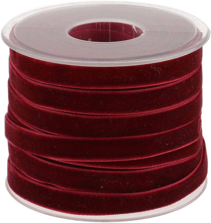 Sharplace 2x20 Yardas Cinta de Rollo Accesorios para Lazos para Pelo Elegante de Color Rojo Verde