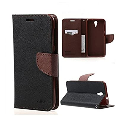 timeless design 5fffc 14d9d Flip Cover for Lenovo Vibe K4 Note/Vibe X3 Lite/A7010/A7010a48 (Black&  Brown)