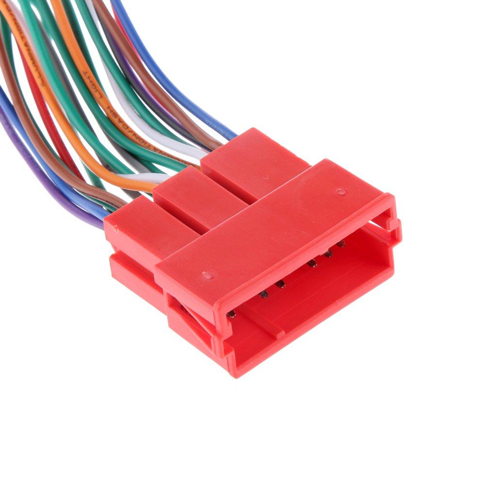 H HILABEE Radio Raccordant Harnais 20 Pin Portable Accessoire Auto Pi/èce Connecteur