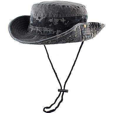 0f952b8e Amazon.com: Sunhat 100% Cotton Sun Hat Bucket Summer Men Women Fishing  Boonie Tactical Milit: Clothing