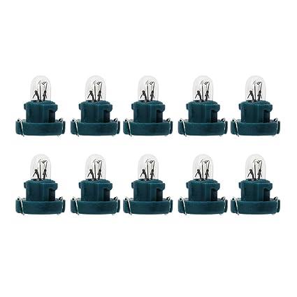 Starnearby - 10 bombillas T3 LED de 12 V para coche