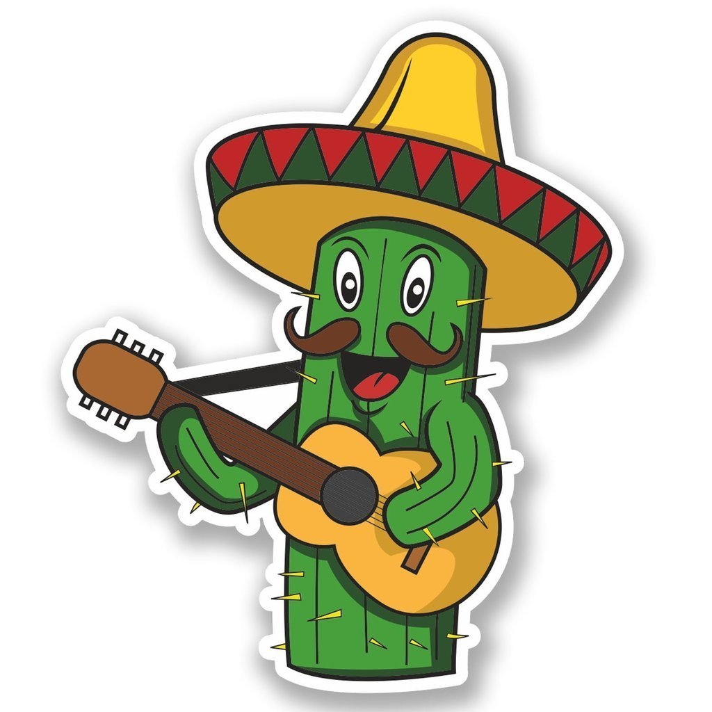 2 x 30cm- 300mm Mexican Cactus Vinyl SELF ADHESIVE STICKER Decal Laptop Travel Luggage Car iPad Sign Fun #4703