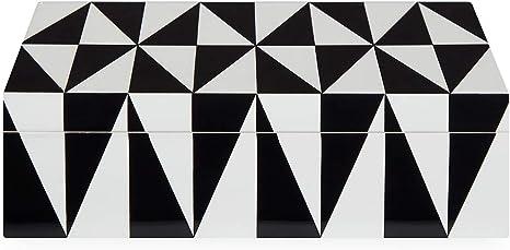 Jonathan Adler Black Pyramid Stacking Box