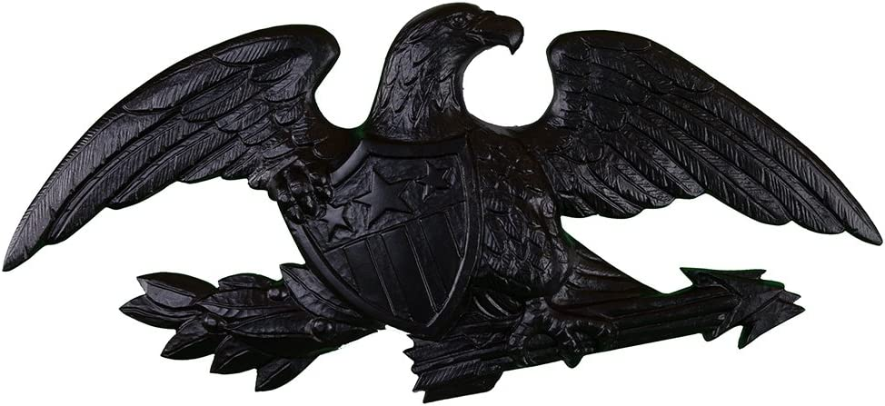 Montague Metal Products Deluxe Flagpole Wall Eagle, 23-Inch, Black