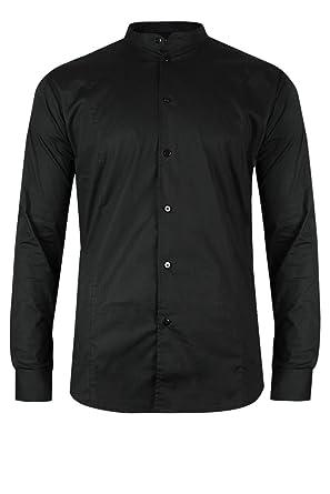 60512034b8cd trueprodigy Casual Herren Marken Hemd Stretch Oberteil Stehkragen Langarm  Slim Fit Shirt Männer Elegant Farbe  Amazon.de  Bekleidung