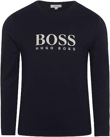 BOSS Hugo Camiseta de Manga Larga - para niño Azul Marine ...