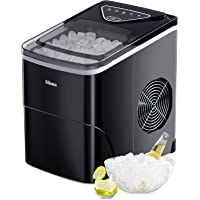 Silonn Ice Makers Countertop 9 Bullet Ice Cubes Ready in 6 Minutes, 26lbs in 24Hrs Portable Ice Maker Machine Self…