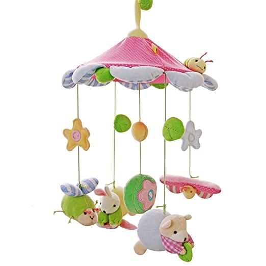 SHILOH Baby Crib Decoration 60 tunes Lullabies Pllush Musical Mobile (Princess)