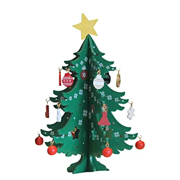 tueselesoleil tabletop christmas tree wooden miniature christmas ornaments diy mini christmas tree festival decorations