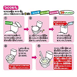"Japanese Candy ""In A Toilet""New Version Cola & Melon Soda Candy Powder Drink Toy Toilet 1 pack"