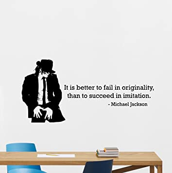 Michael Jackson Quote Wall Decal It Is Better To Fail Lettering Poster  Print King Of Pop Part 15