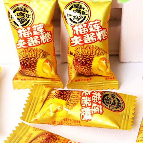 Durian Stuffed Candy 100g (3.5 Oz), Fruit Sweets, Snack, Food