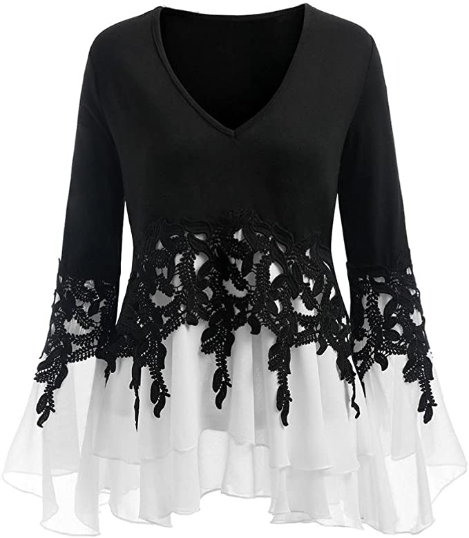 K-Youth Blusas y Camisas Mujer Talla Grande Dobladillo Irregular ...