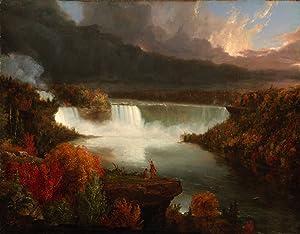 Get Custom Art Thomas Cole - Distant View of Niagara Falls, Poster Art Print Wall Decor - Size 24x36 Inches