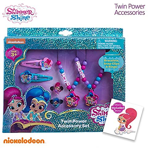 Shimmer and Shine Girls Best Friends Jewelry Accessories Clips Rings Bracelets - Shimmer Spiral