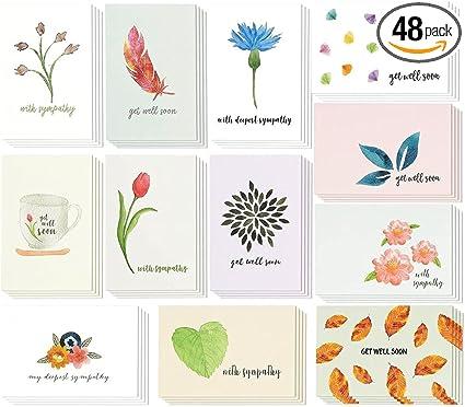 4 watercolor cards bundle.