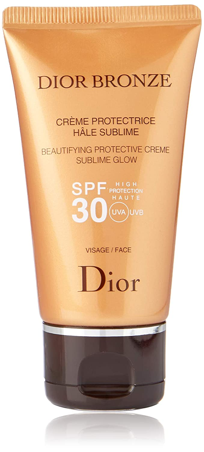 0d3561752 Amazon.com : Christian Dior Bronze Beautifying Protective Creme Sublime  Glow SPF 30 for Face, 1.7 Ounce : Beauty