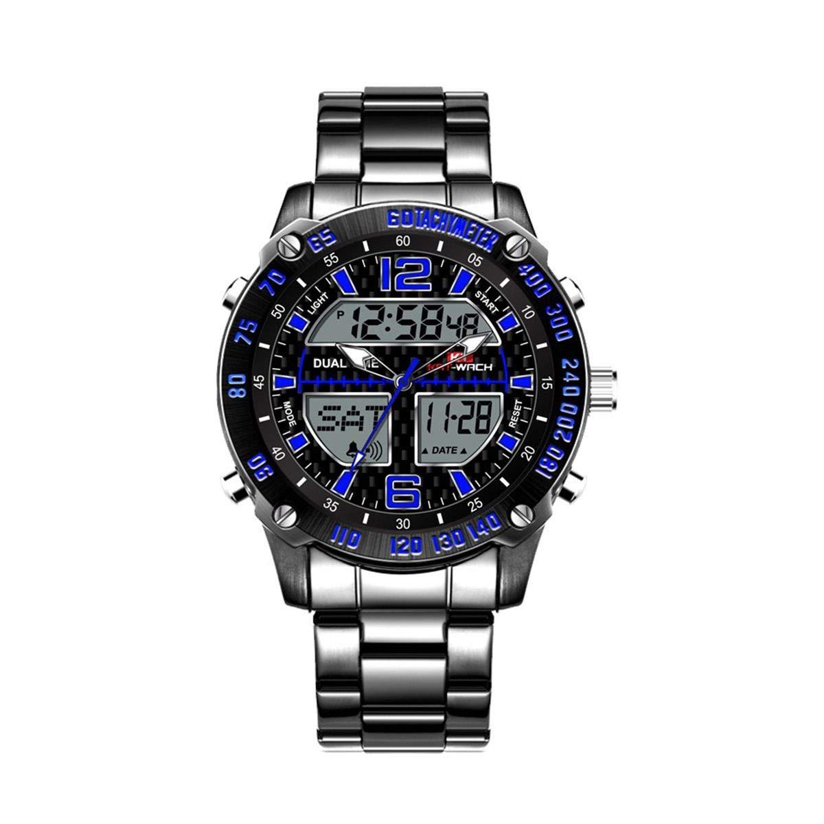 WULIFANG Reloj De Hombre Reloj Digital De Pantalla Doble ...