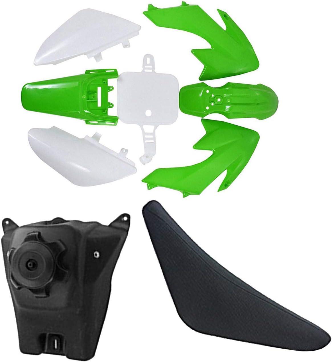 ZXTDR Gas Fuel Tank /& Seat /& Plastic Fairing Kit Body Fender for CRF XR XR50 CRF50 110cc 125cc Pit Dirt Bike
