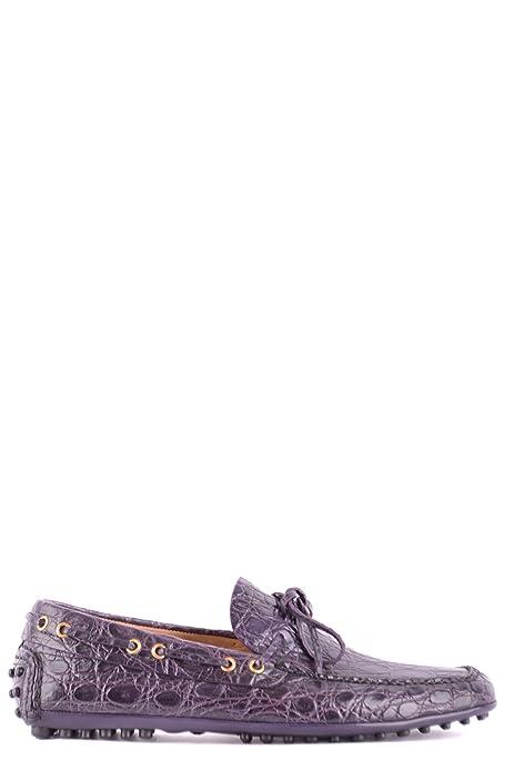 Car Shoe - Mocasines de Otra Piel para Hombre Morado Morado, Color Morado, Talla 44: Amazon.es: Zapatos y complementos