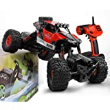 GizmoVine RC Car 4WD RC Rock Crawler Waterproof Climber 2.4Ghz Remote Control Off Road Vehicle for Kids and Adults (Red)